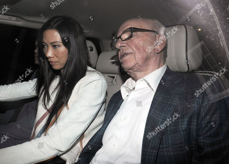 Rupert Murdoch Arrives Back Home To His Mayfair Flat Tonight At 10pm With His Wife Wendi Deng