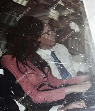 London. Rupert Murdoch Arrives Back At His Mayfair Home This Afternoon With His Wife Wendi Deng And His Legal Adviser Joel Klein After Being Questioned By The Culture Media And Sports Select Committee At Porticullis House. 19/07/2011