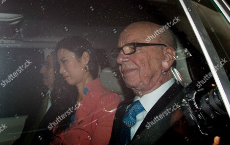 London. Rupert Murdoch Leaves His Mayfair Home This Afternoon With His Wife Wendi Deng And His Legal Adviser Joel Klein To Be Questioned By The Culture Media And Sports Select Committee At Porticullis House. 19/07/2011