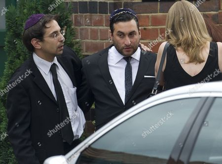 Funeral Of Rock Star Amy Winehouse At Golders Green In London. Pictured Is Her Brother Alex Winehouse Picture Dave Parker 26.7.11 Reporter Paul Harris And Emily Andrews.