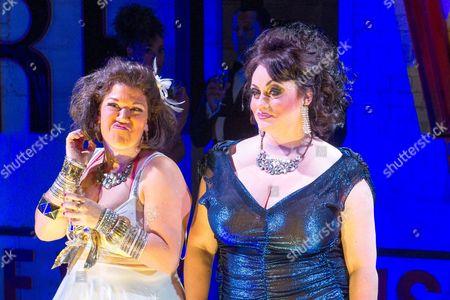 Stock Image of 'Soho Cinders' -  Beverly Rudd (Dana) and Suzie Chard (Clodagh).