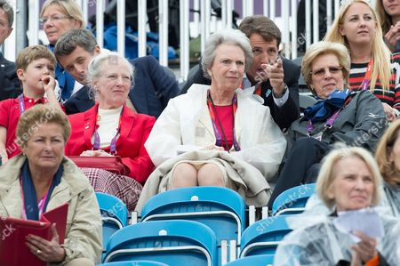 Prince Christian of Denmark, Crown Prince Frederik of Denmark, Crown Prince Pavlos of Greece, Princess Theodora of Greece and Denmark, Queen Margrethe II of Denmark, Princess Benedikte of Denmark and Queen Anne-Marie of Greece - Dressage Grand Prix
