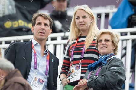 Crown Prince Pavlos of Greece, Princess Theodora of Greece and Denmark and Queen Anne-Marie of Greece - Dressage Grand Prix