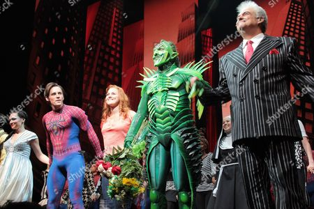 Katrina Lenk, Reeve Carney, Rebecca Faulkenberry, Patrick Page and Kevin C. Loomis