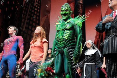 Reeve Carney, Rebecca Faulkenberry, Patrick Page and Kevin C. Loomis