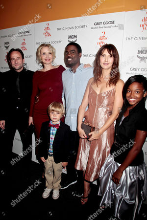 Alexandre Nahon, Julie Delpy, Owen Shipman, Chris Rock, Alexia Landeau and Talen Ruth Riley
