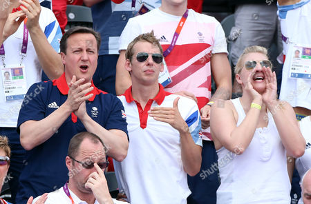 David Cameron, David Carry and Rebecca Adlington