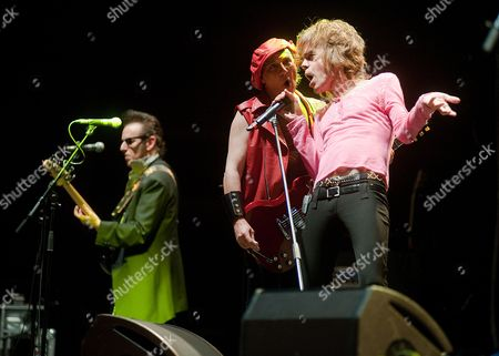 Editorial photo of New York Dolls Perform At The Alexandra Palace In London
