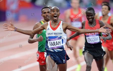 Editorial picture of The 2012 London Olympic Games, Athletics, 5000m, Britain - 11 Aug 2012