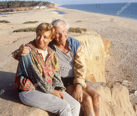 Clive Dunn with his wife Pricilla in Portugal