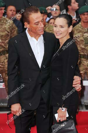 Jean-Claude Van Damme and Gladys Portugues