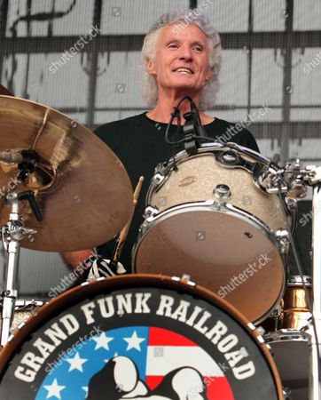 Stock Image of Don Brewer of the classic-rock band Grand Funk Railroad