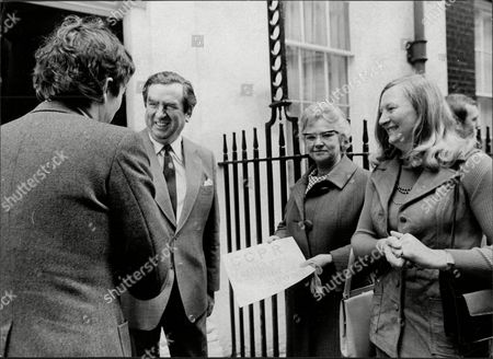 Denis Healey Mp With Mary Peters.