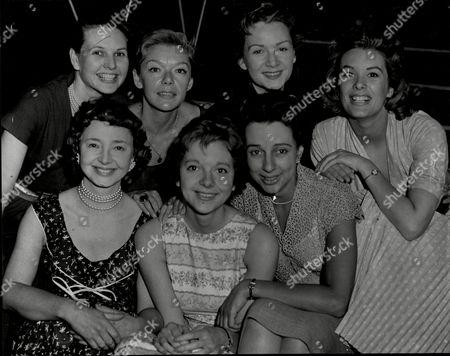 All Star Chorus For Show Night Of 100 Stars' At The London Palladium L-r Top Actresses Sheila Sim (now Mrs Richard Attenborough) Brenda Bruce Jean Kent Sally Ann Howes. Bottom Dulcie Gray Anna Massey And Thelma Ruby.