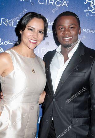 Stock Picture of Sophia Luke and Derek Luke