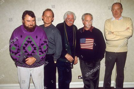 Stock Picture of BRIAN BLESSED, PETER FIRTH, KEN RUSSELL, RICHARD DREYFUSS AND JEREMY KEMP