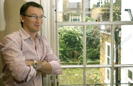 Hugh Hendry at His Home in Notting Hill, London, Britain .