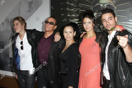 Jean-Claude Van Damme, Gladys Portugues and Family