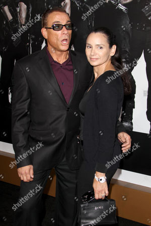 Stock Photo of Jean-Claude Van Damme and Gladys Portugues