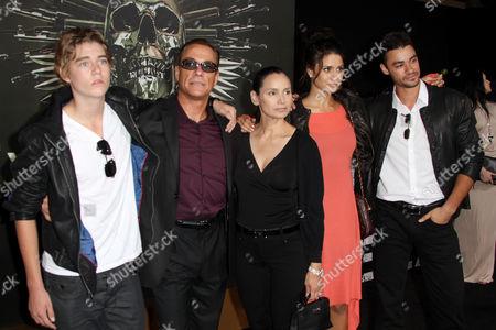 Jean-Claude Van Damme, Gladys Portugues and children