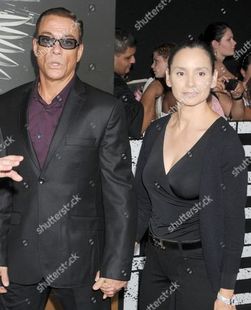 Jean-Claude Van Damme and wife Gladys Portugues