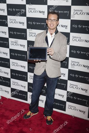 Editorial picture of Samsung Galaxy Note 10.1 launch event, New York, America - 15 Aug 2012