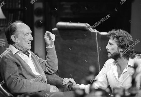 Behind the scenes filming camera crew Michael Hordern and Director Michael Custance