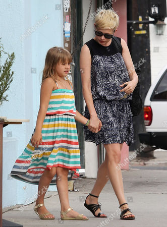 Editorial image of Michelle Williams out and about, Los Angeles, America - 16 Aug 2012