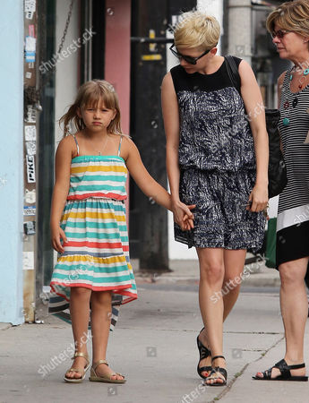 Stock Image of Michelle Williams and Matilda Rose Ledger