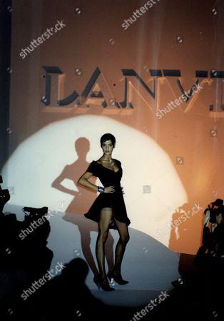 Lanvin Claude Montana Fashion Show In Paris.
