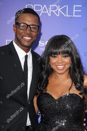 Flex Alexander with wife Shanice Wilson