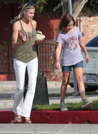 Editorial image of Brooke Burns and daughter Madison out and about in Los Angeles, America - 17 Aug 2012