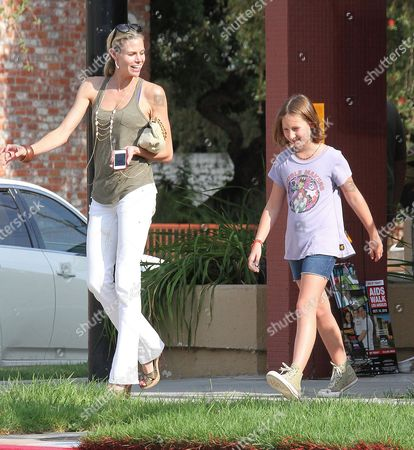 Editorial photo of Brooke Burns and daughter Madison out and about in Los Angeles, America - 17 Aug 2012