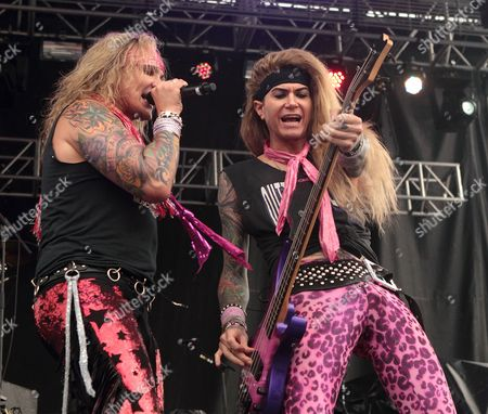 Steel Panther - Michael Starr and Lexxi Foxxx