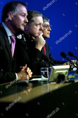 Metropolitan Police Held at the Quii Centre in Westminster, Sir Ian Blair &  Assistant Commissioner Andy Hayman, Dick Fedorcio, London, Britian