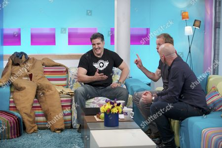 Steve Truglia with Tim Lovejoy and Simon Rimmer