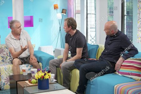 Marcus Chown with Tim Lovejoy and Simon Rimmer.