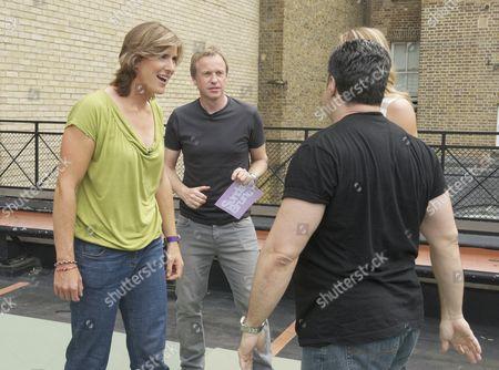 Katherine Grainger, Tim Lovejoy and Steve Truglia