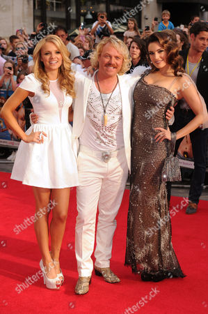 Stock Picture of Rosie Parker, Keith Lemon and Kelly Brook