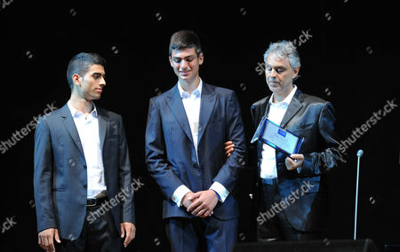 Andrea Bocelli and sons Amos and Matteo