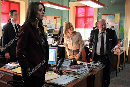 Nicholas Gleaves as DS Andy Roper, Suranne Jones as DC Rachel Bailey, Lesley Sharp as DC Janet Scott and Tony Mooney as DC Pete Readyough.
