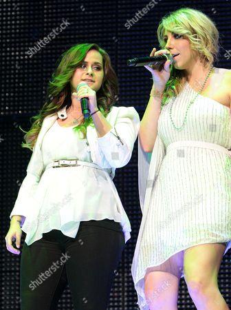 Stock Image of Skylar Laine and Elise Testone