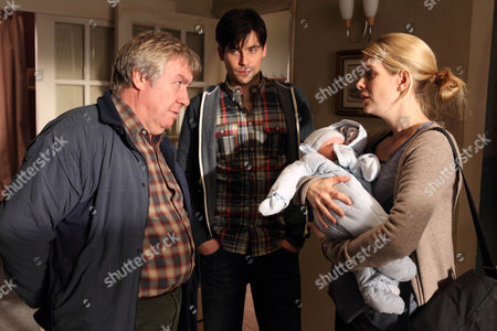 Gregor Fisher as Will, Rob James-Collier as Joe and Andrea Lowe as Lucy.