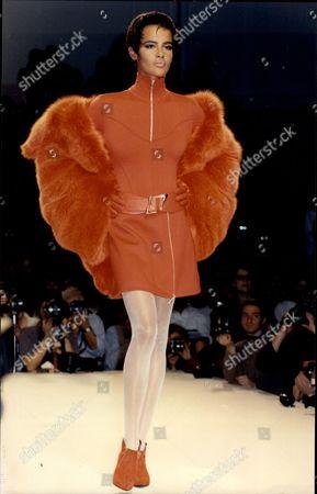 Claude Montana Fashion Show In Paris.