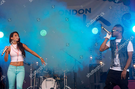 Stock Picture of Sonia Yasmin Ali and Mumzy Stranger, performing on the main stage