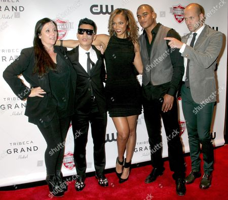 Kelly Cutrone, Bryanboy, Tyra Banks, Rob Evans and Johnny Wujek