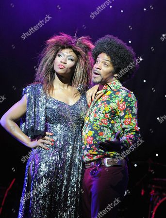 Emi Wokoma as Tina Turner, Chris Tummings as Ike Turner