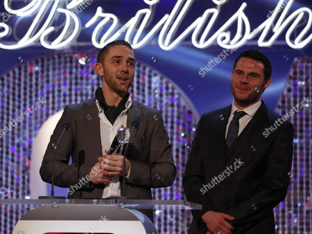 Stock Picture of Best Storyline Winners - Marc Silcock and Danny Miller (Emmerdale)