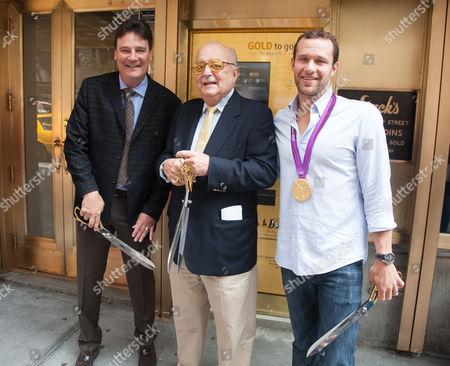 Greg Roberts, Ceo of Spectrum Group International, Harvey Stack, owner of Stack's and Brendan Hansen