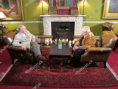 Leslie Phillips and Fay Weldon